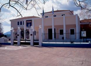 Η πρόσοψη του Νέου Κτιρίου του Αρχαιολογικού Μουσείου Μυτιλήνης