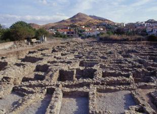 Φωτογραφική άποψη του νότιου τμήματος του αρχαιολογικού χώρου.
