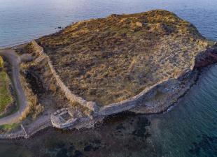Aεροφωτογραφία του αρχαιολογικου χώρου της Άντισσας
